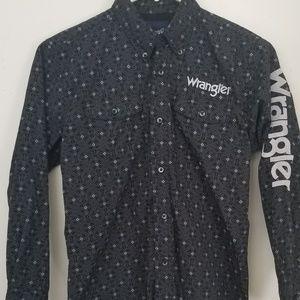 Wrangler Button Down Boys Shirt T4-40